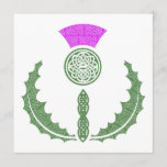 Celtic Knot Scottish Thistle Save the Date