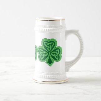 Celtic Knot Shamrock Beer Stein