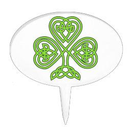 celtic knot shamrock cake topper