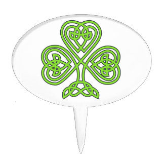celtic knot shamrock cake toppers