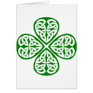 Celtic Knot Shamrock Greeting Cards