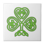 Celtic Knot Shamrock Ceramic Tile