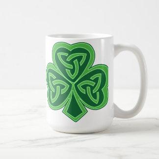Celtic Knot Shamrock Classic White Coffee Mug