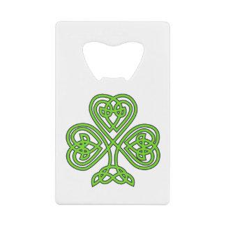 Celtic Knot Shamrock Credit Card Bottle Opener