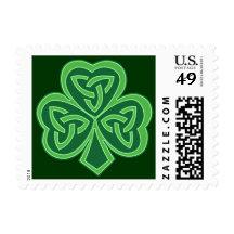 Celtic Knot Shamrock  Custom US Postage Stamps Postage Stamps