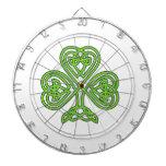 Celtic Knot Shamrock Dart Board