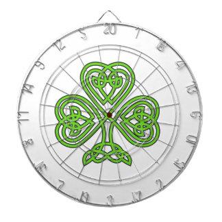 Celtic Knot Shamrock Dart Boards