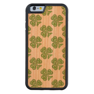 Celtic Knot Shamrock Green Carved Cherry iPhone 6 Bumper Case