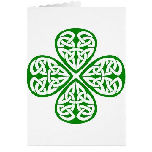 Leaf Celtic Shamrock Celtic knot shamrock greeting