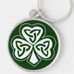 Celtic Knot Shamrock Key Chains