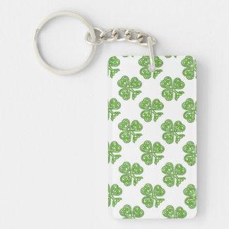Celtic Knot Shamrock Keychain