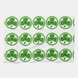 Celtic Knot Shamrock Kitchen Towel