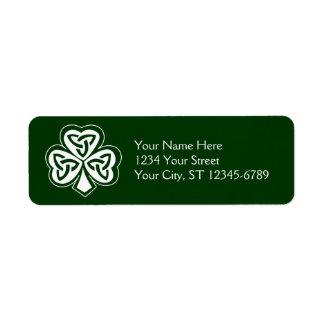 Celtic Knot Shamrock Label Return Address Label