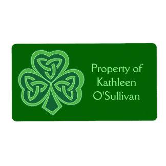 Celtic Knot Shamrock Label Shipping Label