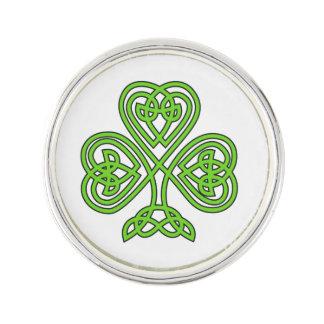 Celtic Knot Shamrock Lapel Pin