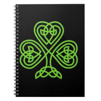 Celtic Knot Shamrock Notebook