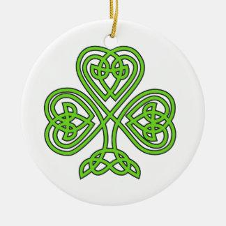 Celtic Knot Shamrock Christmas Ornament