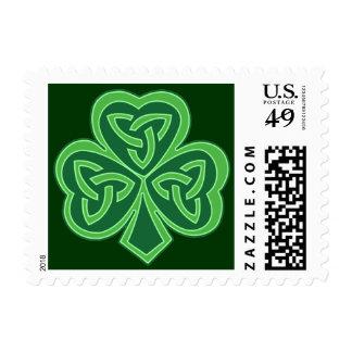 Celtic Knot Shamrock Postage