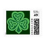 Celtic Knot Shamrock Postage Stamps