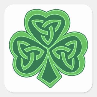 Celtic Knot Shamrock Square Sticker