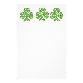 Celtic Knot Shamrock Stationery
