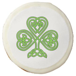 Celtic Knot Shamrock Sugar Cookie