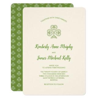 celtic knot shamrock wedding ivory card - Celtic Wedding Invitations