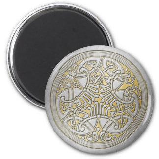 Celtic Knot Silver Birds & Gold-Fridge Magnet