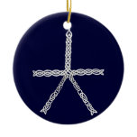 Celtic Knot Snowflake Ornament