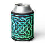 Celtic Knot - Square Blue Green Can Cooler