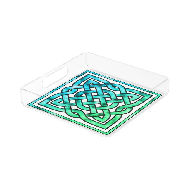 Celtic Knot - Square Blue Green