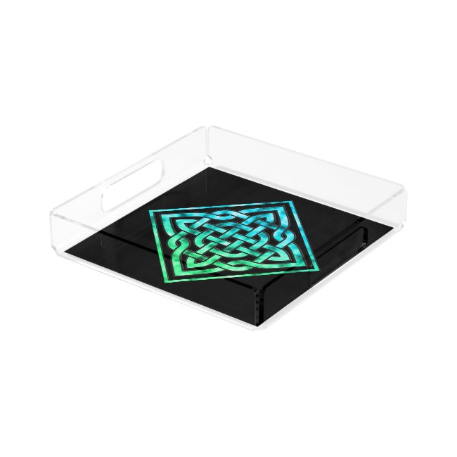 Celtic Knot Square Serving Tray - Diamond