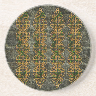 Celtic Knot Strips Drink Coaster
