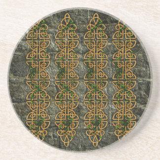 Celtic Knot Strips Drink Coaster