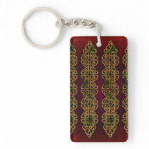 Celtic Knot Strips Keychain