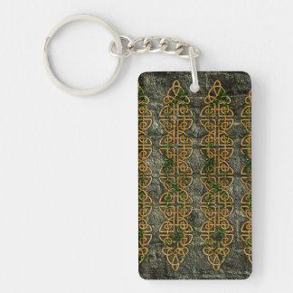Celtic Knot Strips Double-Sided Rectangular Acrylic Keychain