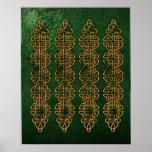 Celtic Knot Strips Poster