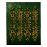 Celtic Knot Strips Poster