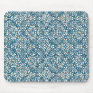 Celtic Knot Teal Blue Pattern Mouse Pad