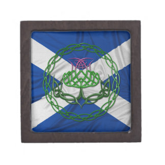 Celtic Knot Thistle And Flag Gift Box