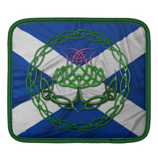 Celtic Knot Thistle And Flag Sleeve For iPads
