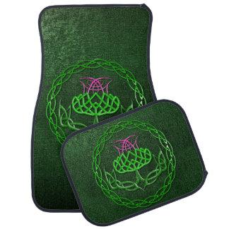 Celtic Knot Thistle Car Mat