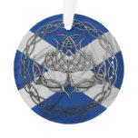 Celtic Knot Thistle Ornament