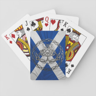 Celtic Knot Thistle Playing Cards