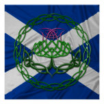 Celtic Knot Thistle Poster