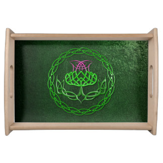 Celtic Knot Thistle Serving Tray