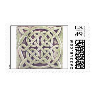 celtic knot tile cropped postage
