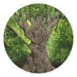Celtic Knot Tree Classic Round Sticker