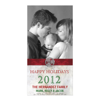 Celtic Knot Triskelion Holiday Christmas Photo Card