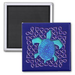 Celtic Knot Turtle (Blue) Magnets